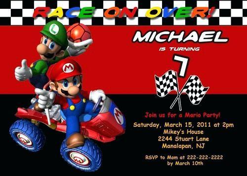 Mario Birthday Invitations Free Party Invitation Template