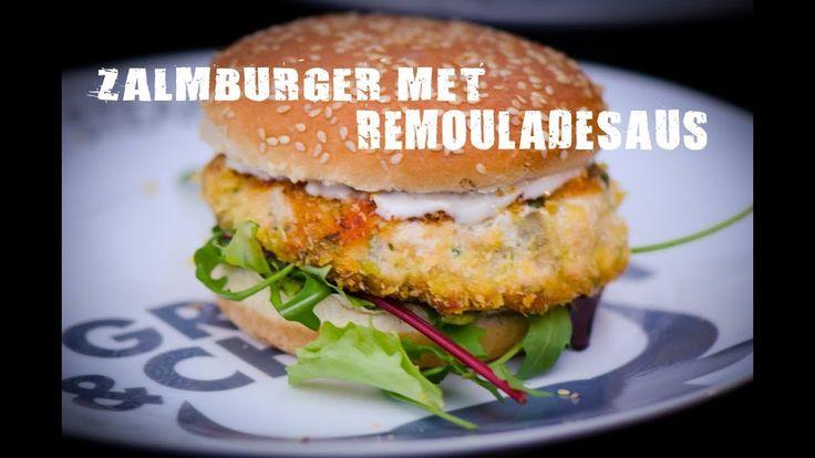 Zalmburger met remouladesaus | Fire&Food TV
