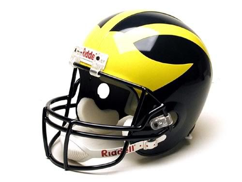 college helments | College Football Blog: About Michigan's Helmet
