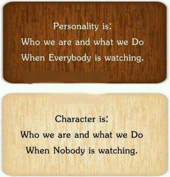 Character personality psychology and school
