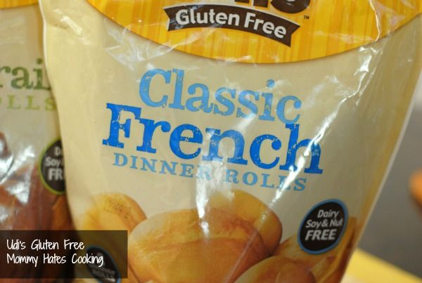 Udi's rolls- this is about the only gluten free brand I can eat and really like the taste.