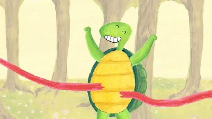 Een grappig liedje over een wedstrijdje tussen een schildpad en een haas. Wie is er sneller? Zing je mee?