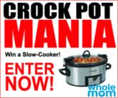 Programmable Cook and Carry Oval 6-quart Crock Pot Giveaway  Open to: United States Ending on: 04/28/2017 Enter for a chance to win a Programmable Cook and Carry Oval 6-quart Crock Pot. Enter this Giveaway at Whole Mom  Enter the Programmable Cook and Carry Oval 6-quart Crock Pot Giveaway on Giveaway Promote.