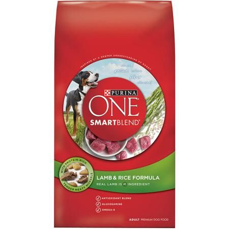 Purina ONE SmartBlend Dry Premium Dog Food, Lamb and Rice Formula, 8 lb Bag $12 Walmart