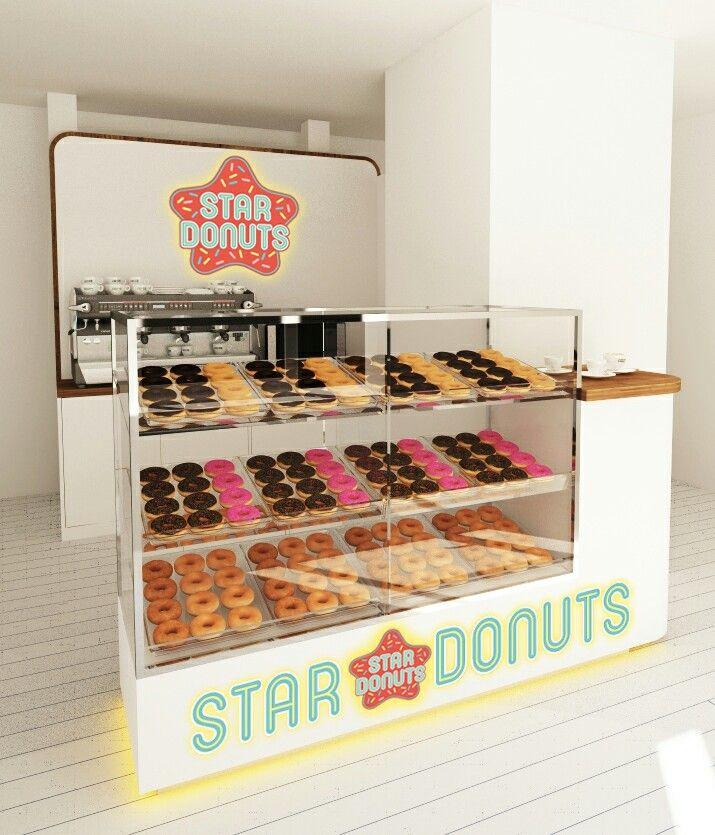 Návrh koblihárny StarDonuts - visualisation for new store StarDonuts