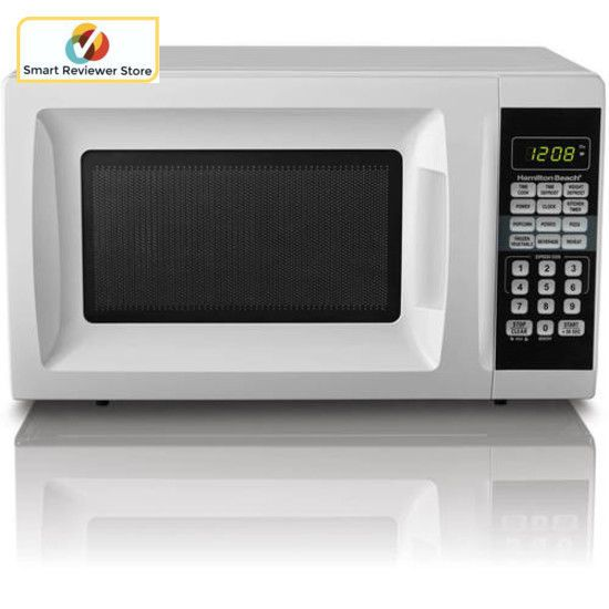 700 W Hamilton Beach 0.7 cu ft Microwave Oven Countertop Kitchen Digital White #HamiltonBeach