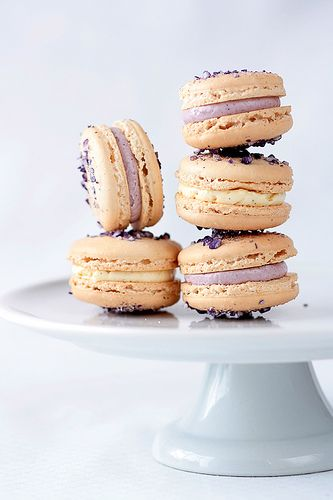 Violet Macarons With Violet And Vanilla Bean Buttercream Recipe. This ...