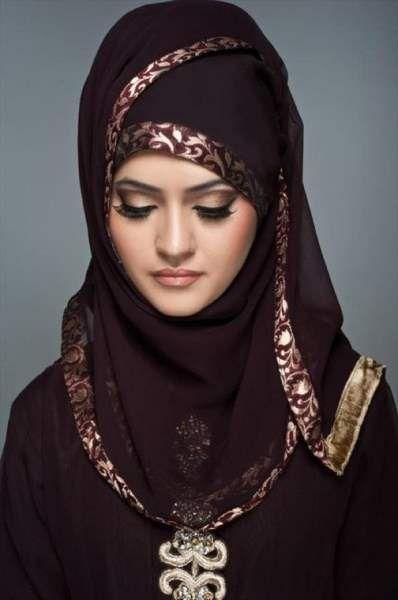 Latest-Fashion-Girls-Arabic-Hijabs-Collection-2015 (5) | Trendline.PK