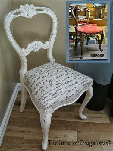 Concepto de silla reciclada
