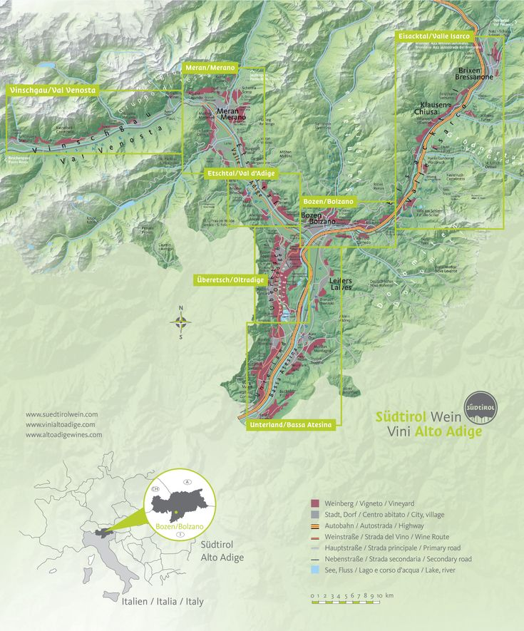 Alto Adige Wine Map