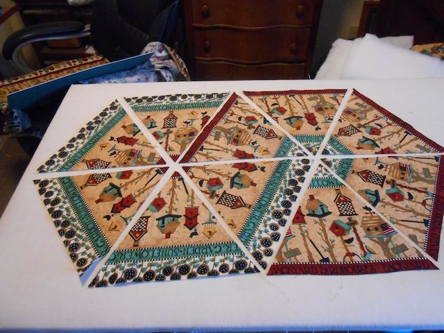 60 Degree Border Fabric To Make A Sweet Table Runner