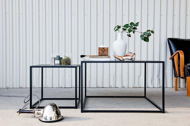 Table basse épurée en métal noir