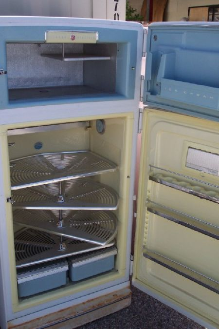Check Out The Lazy Susan Shelves Inside This Refrigerator