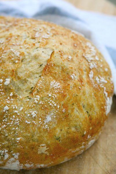 No-Knead Pesto Bread