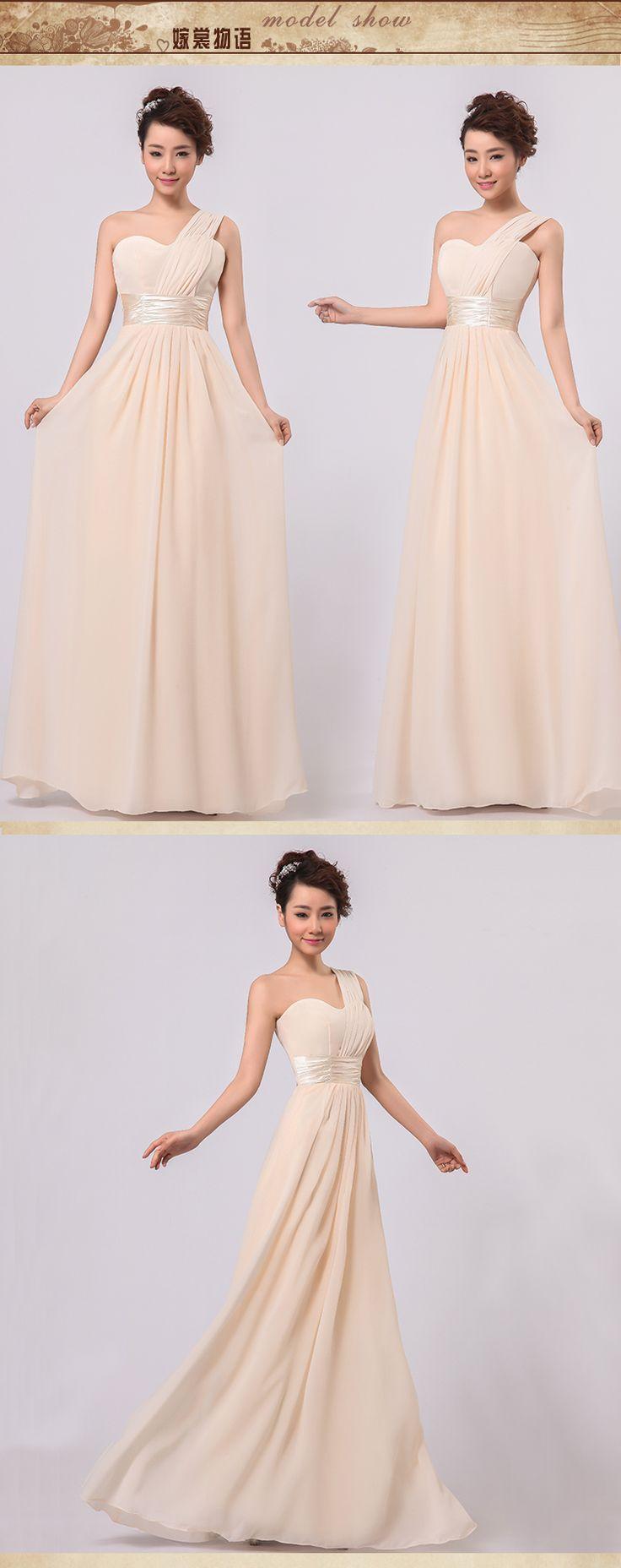 2014 новое поступление одно плечо шифон красный платье невесты с мода элегантный дизайн женская вечернее платье невесты, принадлежащий категории Платья подружек невесты и относящийся к Одежда и аксессуары на сайте AliExpress.com   Alibaba Group
