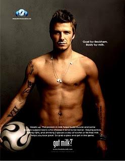 David Beckham. <3 I think I'd like a glass of milk now.