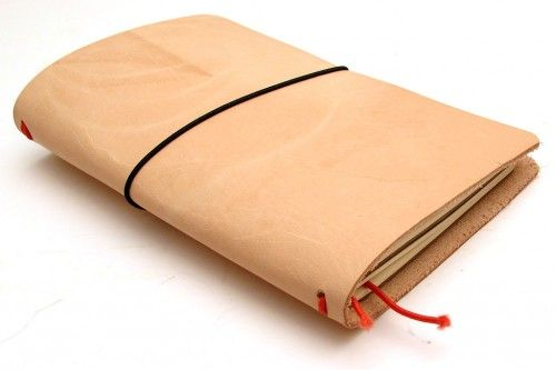 Make it yourself – Midori Traveler's style leather Moleskine Cahier or Field Notes notebook cover