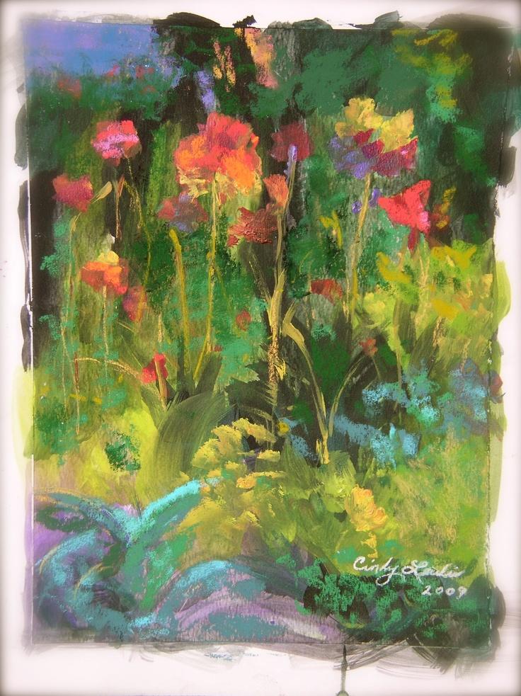 Flower Garden in Pastels