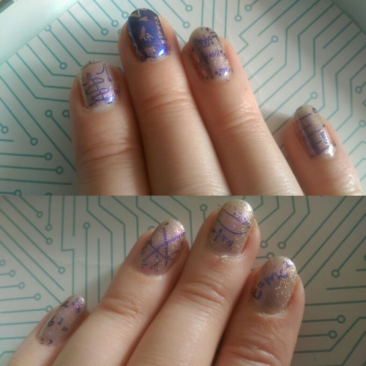 Science nails moyou scholar plate