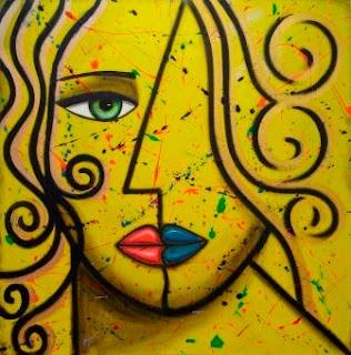 """Two Faced"" ©2012 Pop Artist Michael Perez  Gallery 212 Miami  Photo Courtesy Fred Love Photo"