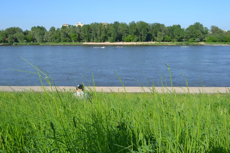 The Vistula River, Warsaw, Poland.