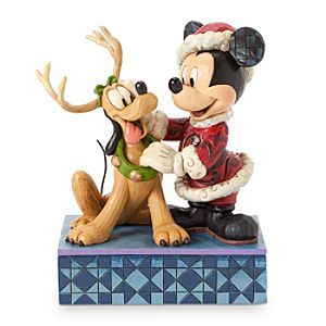 Disney Santa Mickey Mouse ''Santa's Best Friend'' Figure by Jim Shore | Disney Store