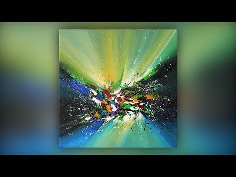 Simple Abstract Painting Techniques / Acrylic / Spatula / Multicolor / Demo # 026 – YouTube