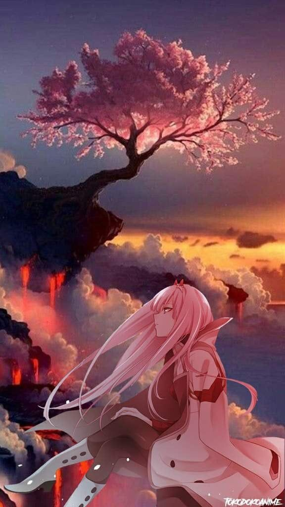 Looking For A Great Phone Background Look No Further Zerotwo Darling In The Franxx Zero Two Anime Scenery