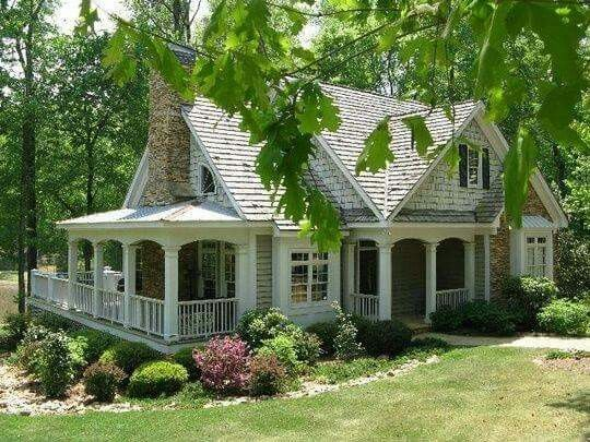 Cute little cottage home dream home pinterest for Dream country homes