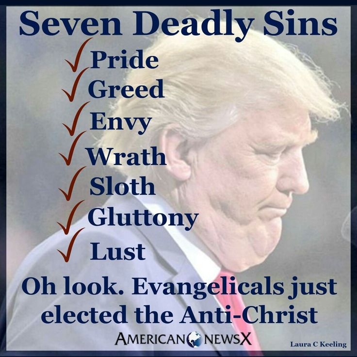 "The US is no longer a ""Christian"" nation if they accept Trump!"