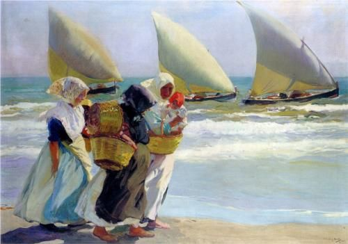"""Three Sails"" (Joaquin Sorolla y Bastida, 1903, oil on canvas): In a private collection."