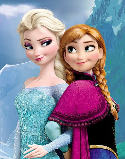 New Disney princess, Anna and Elsa - lol, the two of them look like they're plotting something