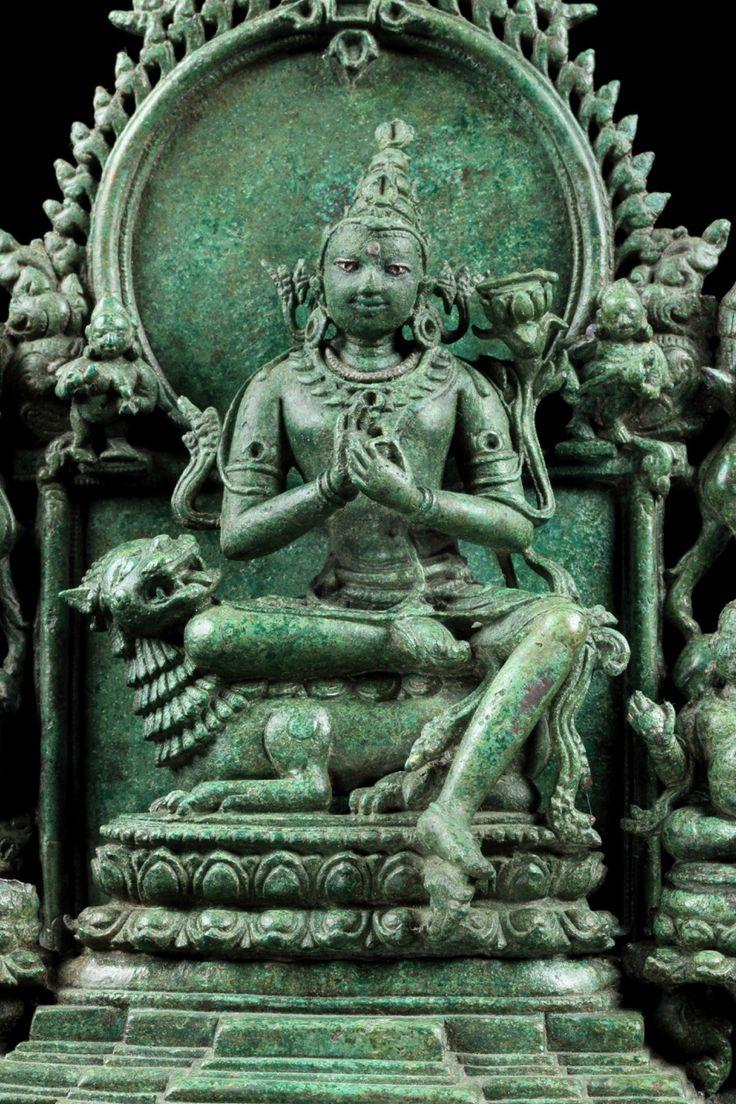 11th Century Pala Manjuvara bronze with silver inlay.