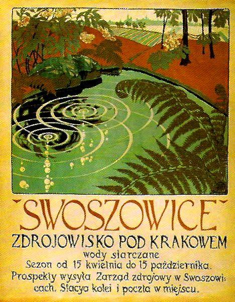 hideback: Wojciech Jastrzebowski Swoszowice Health Resort poster, Krakow, Poland, 1907