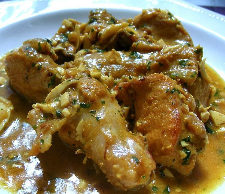Pollo en Pepitoria. Este es un plato que gusta mucho. Lo puedes preparar con antelación, así se asienta la salsa y se intensifican los sabores. #recetas #cocina