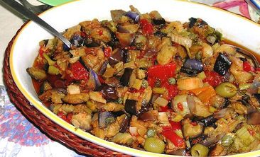 Caponata - special appetizer dish from Sicily