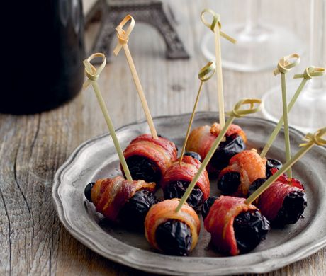 Prunes in Crispy Bacon  Recipe | Epicurious.com