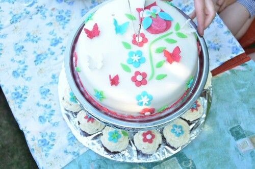 For my daughter, butterfly cake