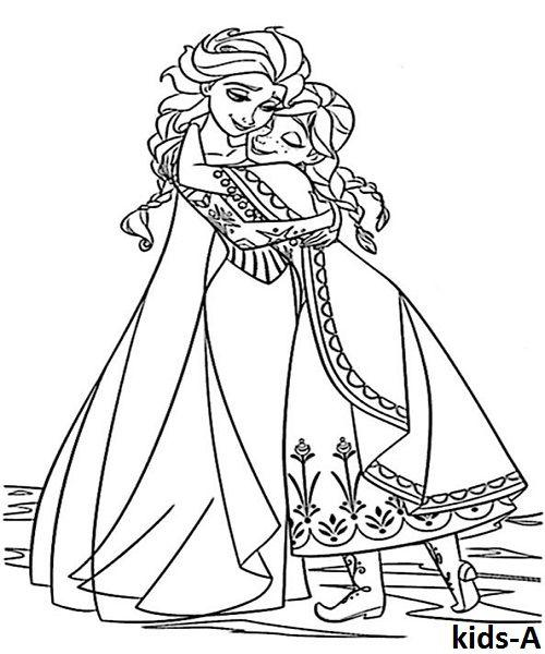 elsa ausmalbilder  malvorlagen eiskönigin malvorlage