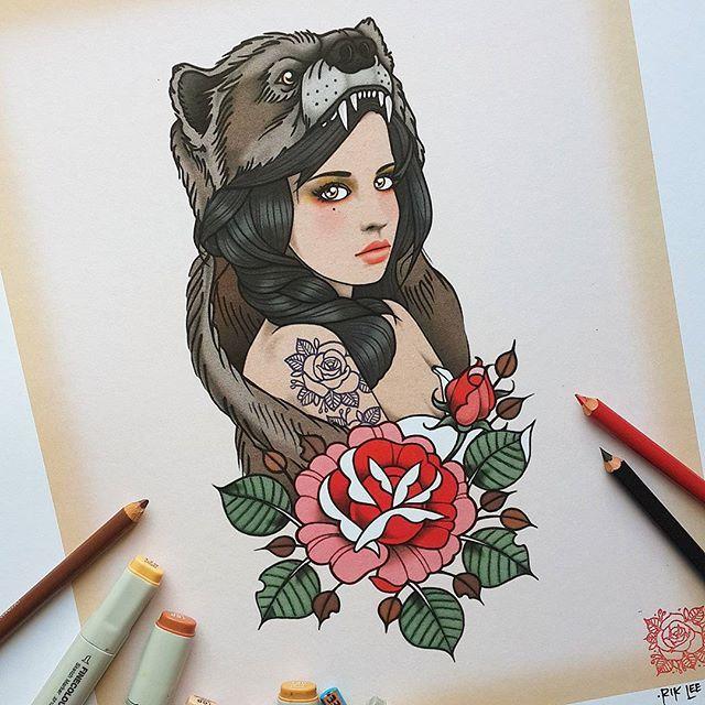 1000 ideias sobre tatuagens de urso no pinterest tatuagens designs de tatuagem e tatuagens. Black Bedroom Furniture Sets. Home Design Ideas