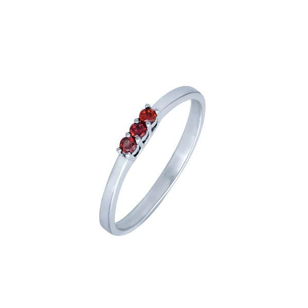 Silber Ring mit Granat, Verlobungsring von Schmuck-Batih auf DaWanda.com