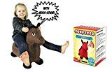 Riding Horse for Kids Inflatable Jumping Horse with Real Neigh Sounds  Hopping Horse Ride-On Toy for Toddlers  Strong Durable Washable Fabric  3 Unique Fun Colors  BONUS Free Pump & Plug Remover