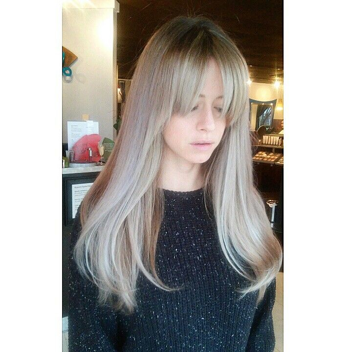 www.instagram.com/merrgg Blonde ash wheat bangs long ...