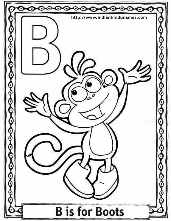 Dora Alphabet Coloring Sheets