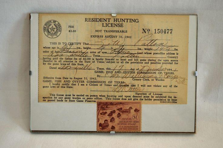 1941 Texas Hunting License / Unused Migratory Bird Hunting Stamp ~ Ruddy Ducks by Kalenbach