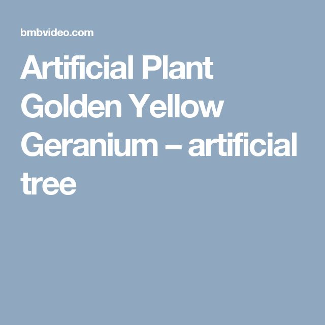 Artificial Plant Golden Yellow Geranium – artificial tree