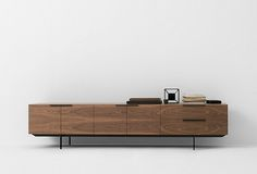 Credenza for conference rooms. Add white ceasarstone top. Would be cool if this was attached to the wall without legs.