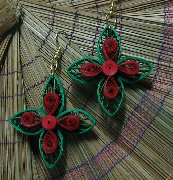 Beautiful quilled earrings¦ Visit papercraftss.blogspot.com