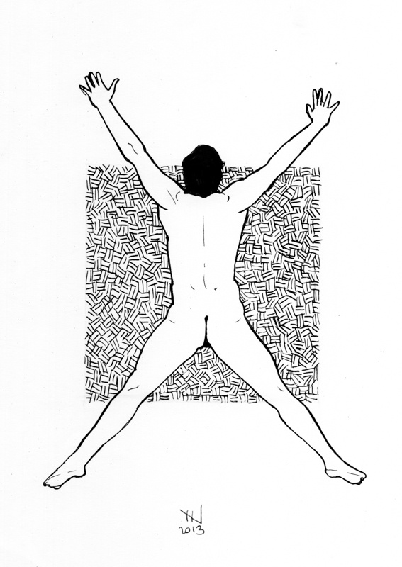 NAKED ART SERIES · Male // ARTIST · Jordi NN // #Naked #Nude #Art #Draw #Ink #Man #Body