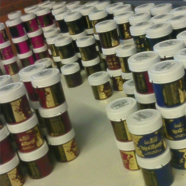 #hairdye #orders #Thanks! Look at all these different dyes! Thanks for ordering soo much! www.attitudeholland.nl